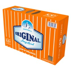 Hartwall Orginal Long Drink Orange 5.5% 24*0.33 L