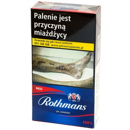 Cigaretes Rothmans 100 Red 1pac./20gb